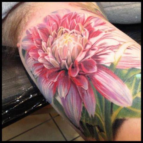 Beautiful flower tattoo by Phil Garcia