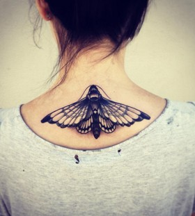 Beautiful moth back tattoo