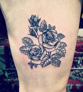 Beautiful roses tattoo by Rebecca Vincent