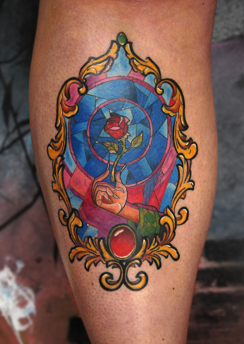 Beauty and the beast mirror tattoo