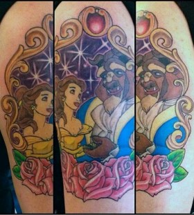Beauty and the beast tattoo