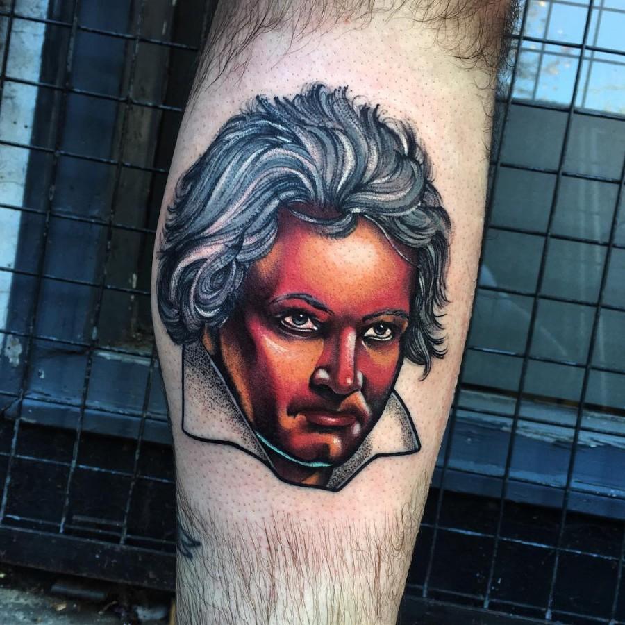 beethonven tattoo by littleandytattoo