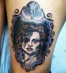 Bellatrix Lestrange tattoo by Eva Huber