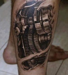 Biomechanical tattoo by Dmitriy Samohin