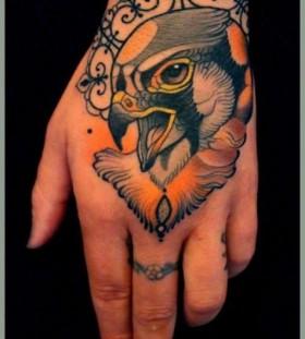 Bird hand tattoo by Lars Uwe Jensen