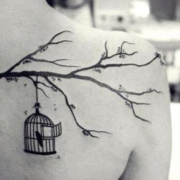 Tree branch tattoos