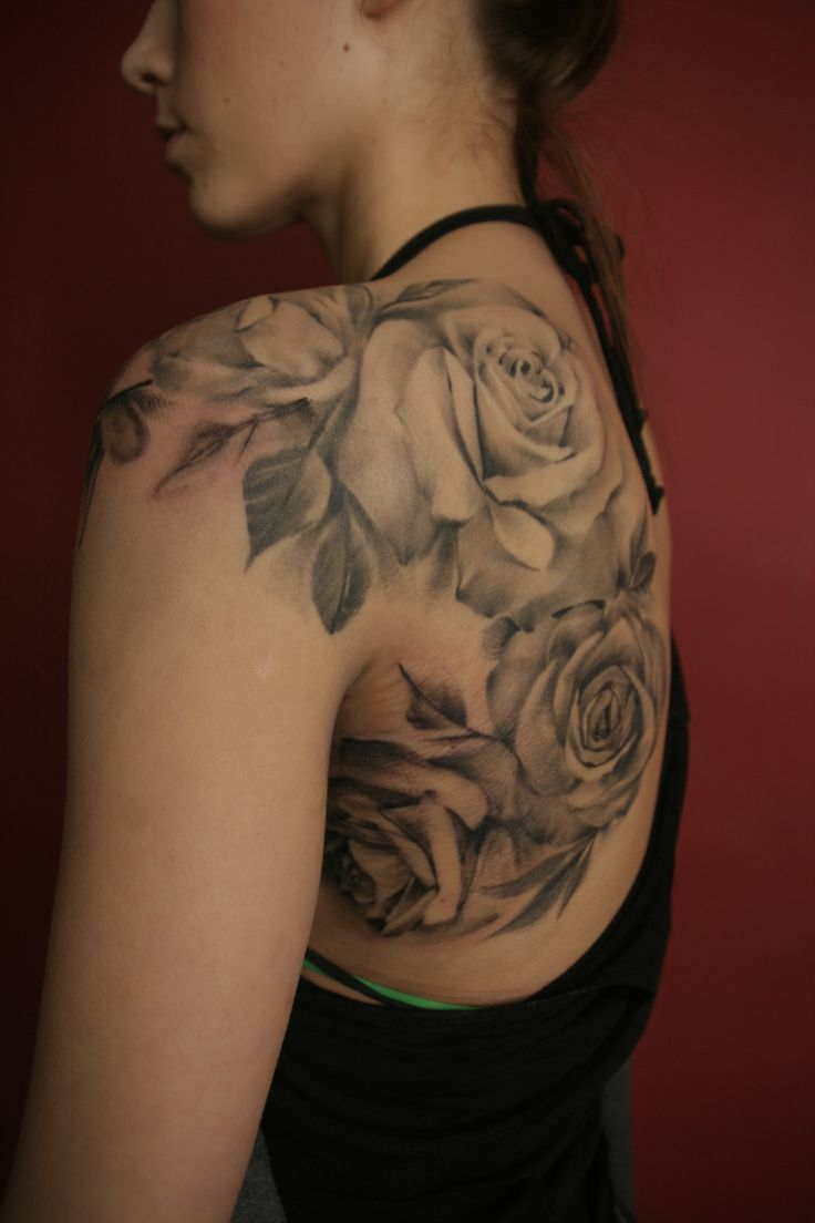 Black Amazing Shoulder Tattoo -