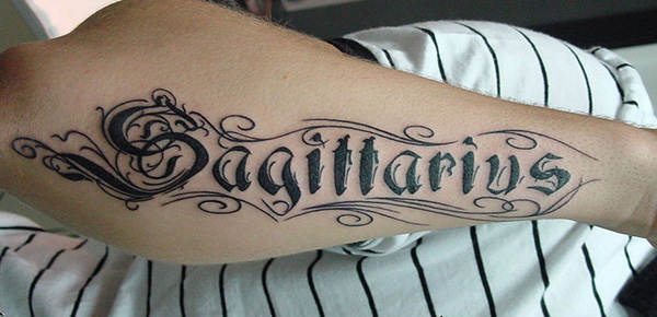 Black Ink Sagittarius Tattoo Tattoomagz Tattoo Designs Ink