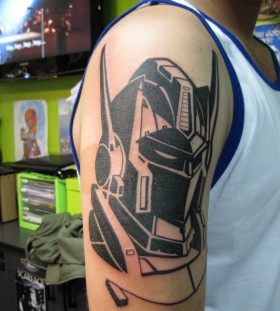 Black ink transformers tattoo