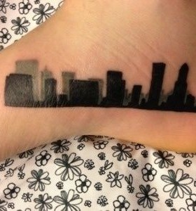 Black leg's town tattoo
