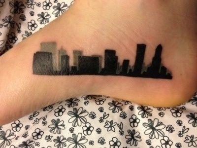 Black leg's town tattoo