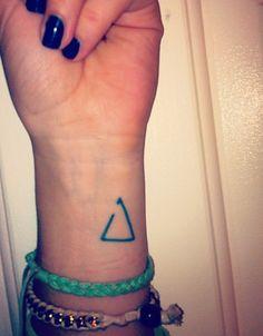 Black simple triangle tattoo