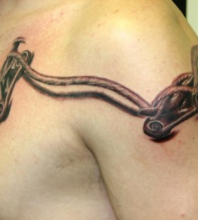 Boat cleat rope tattoo