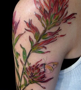 Botanical tattoo by Esther Garcia