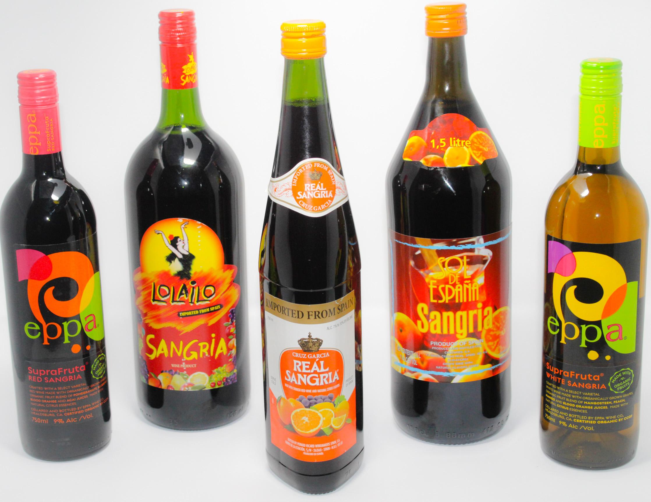 Bottles of sangria