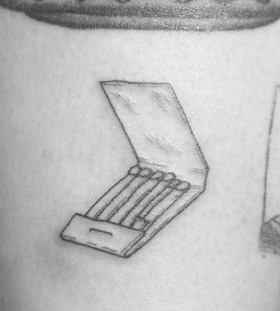 Box of matches tattoo