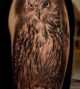 Brilliant owl tattoo by Dmitriy Samohin