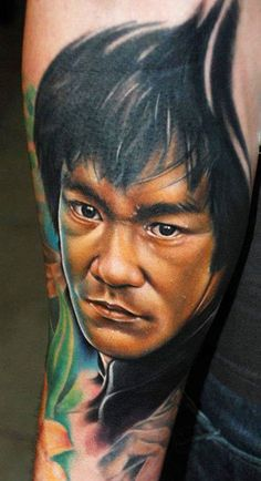 Bruce Lee tattoo by Kyle Cotterman