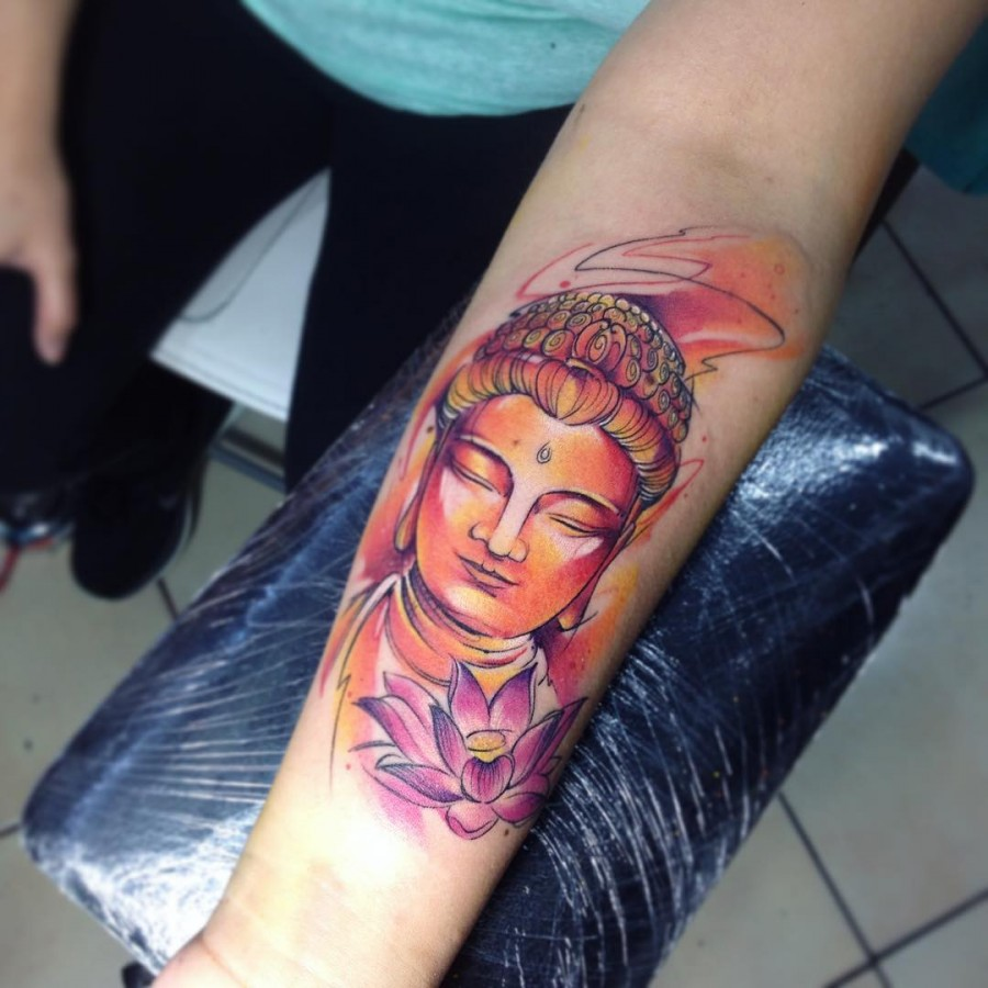 buddha-watercolor-tattoo