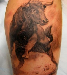 Bull tattoo by Xavier Garcia Boix