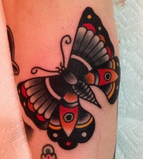 Butterfly tattoo by Nick Oaks