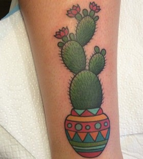 Cactus tattoo by Clare Hampshire