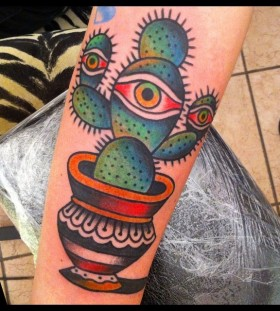 Cactus with an eye tattoo