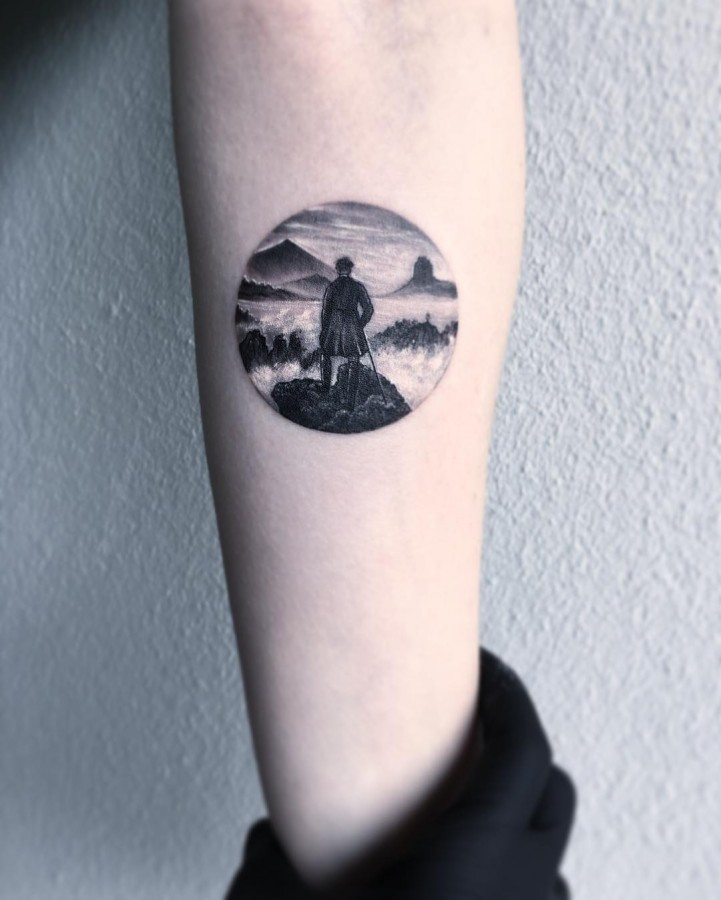 caspar-david-friedrich-circle-tattoo