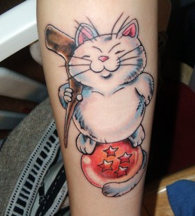 Cat from dragon ball tattoo