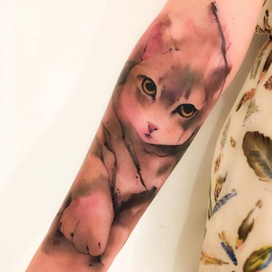 Watercolor Sleeve Tattoos