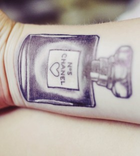 Chanel perfume bottle tattoo