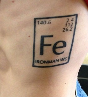 Chemistry style sport tattoo