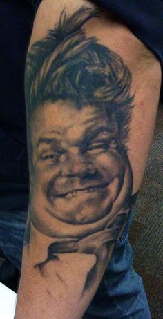 Chris Farley tattoo by David Allen