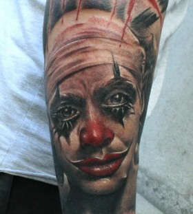 Clown tattoo by Razvan Popescu