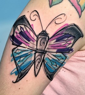 colorful-butterfly-tattoo-by-lucatestadiferro