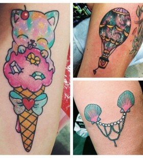 Colorful pictures tattoo by lauren winzer