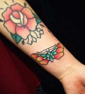 colorful-small-butterfly-tattoo-by-alextreze13