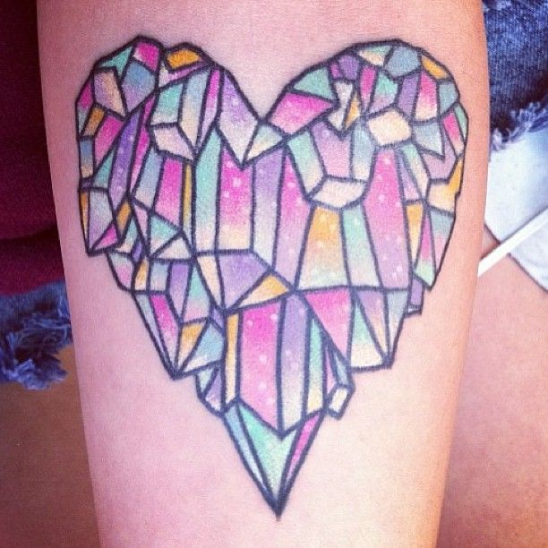 Colorful tattoo by lauren winzer
