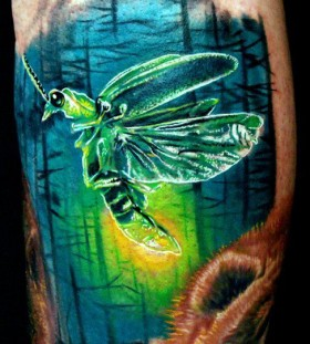 Colourful insect tattoo Phil Garcia
