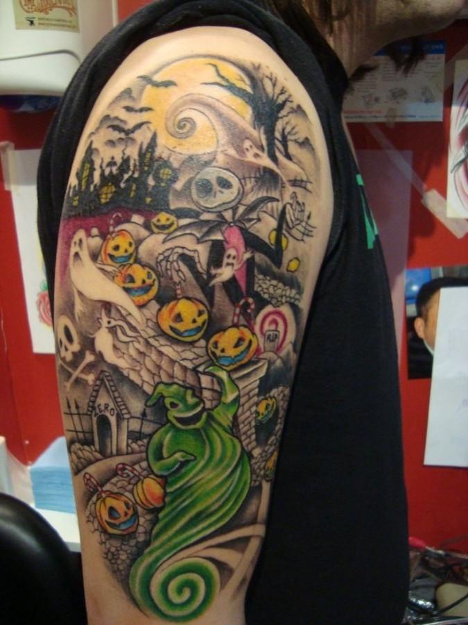 45c7c5ba0 Colourful jack skellington tattoo - | TattooMagz › Tattoo Designs ...