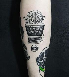 Computer tattoo by Dase Roman Sherbakov