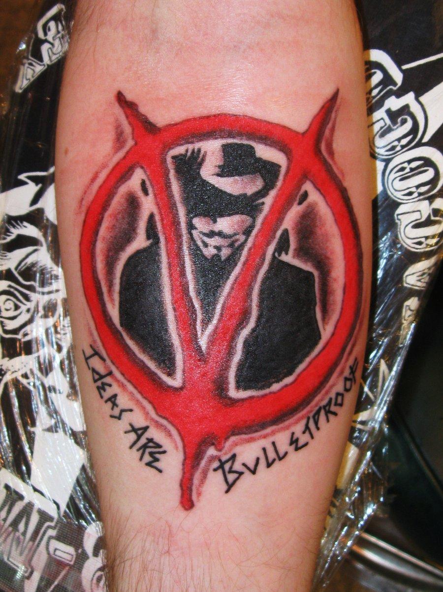 Cool V For Vendetta Arm Tattoo Tattoomagz Tattoo Designs