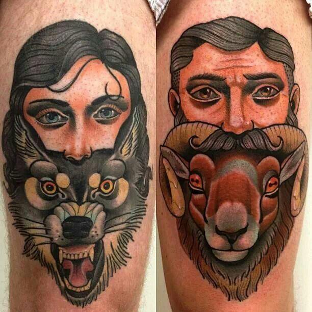 Cool animal tattoos by Alex Dorfler