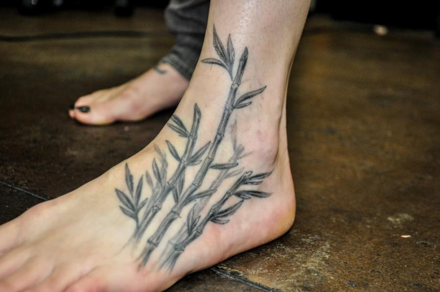 Cool bamboo foot tattoo