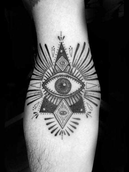 Cool black egyptian eye tattoo