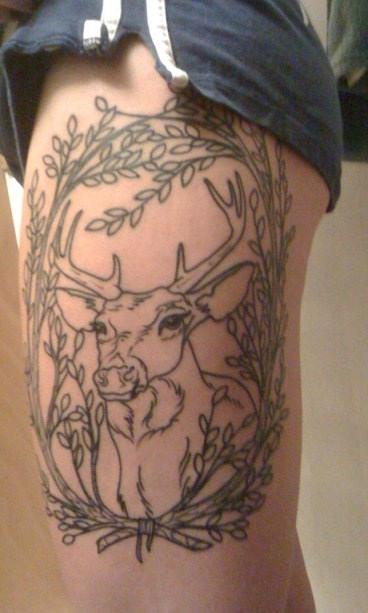 Cool deer leg tattoo