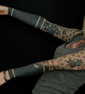 Cool full arm tattoo