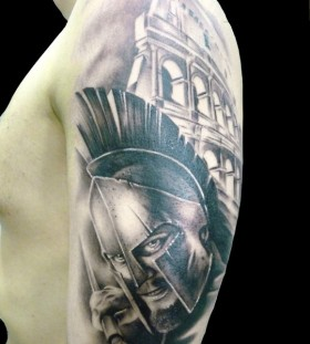 Cool gladiator arm tattoo