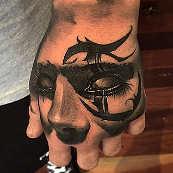 Cool hand tattoo by Benjamin Laukis