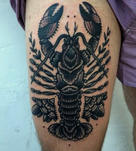Cool lobster leg tattoo